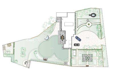 Limestone Terrace & Steps Design